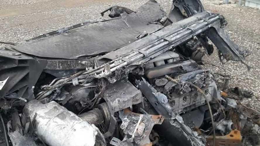 Ford GT brûlée