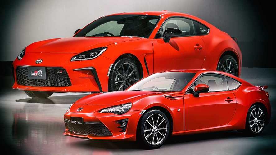 Toyota GR 86 2021 vs. GT86: comparativa estética
