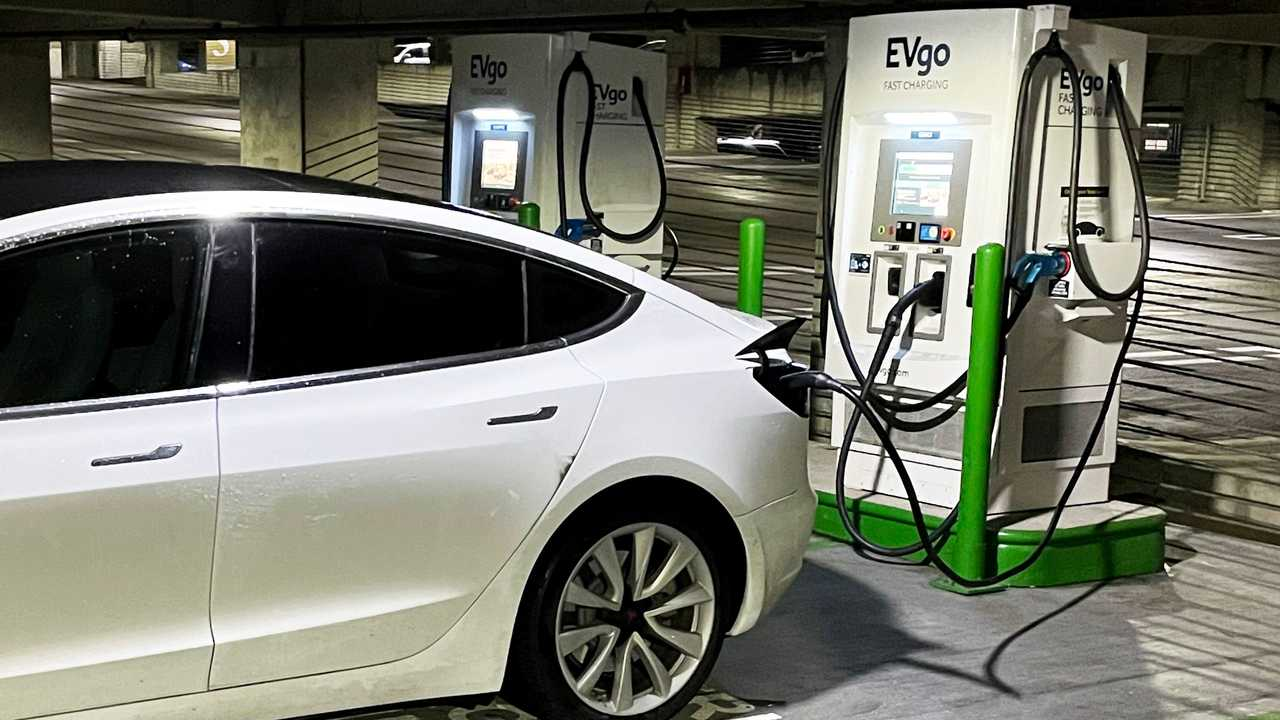 EVgo Tesla car charging