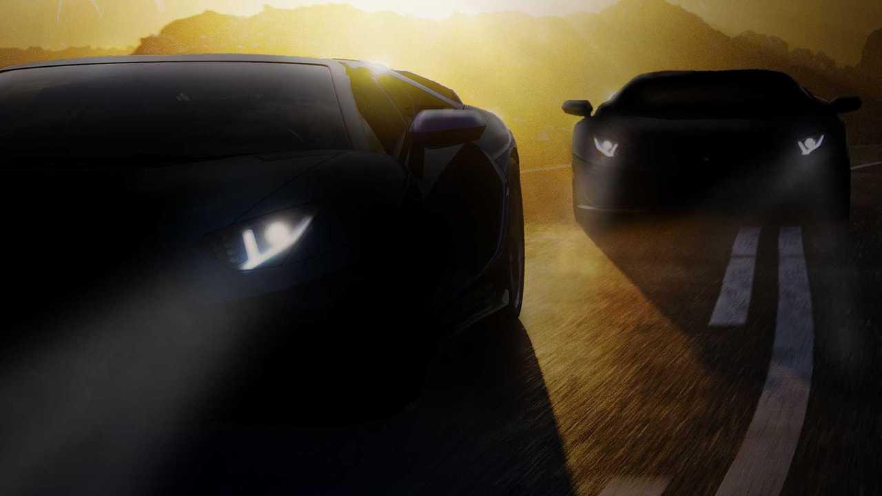 Lamborghini releases a teaser image of the new Aventador model.