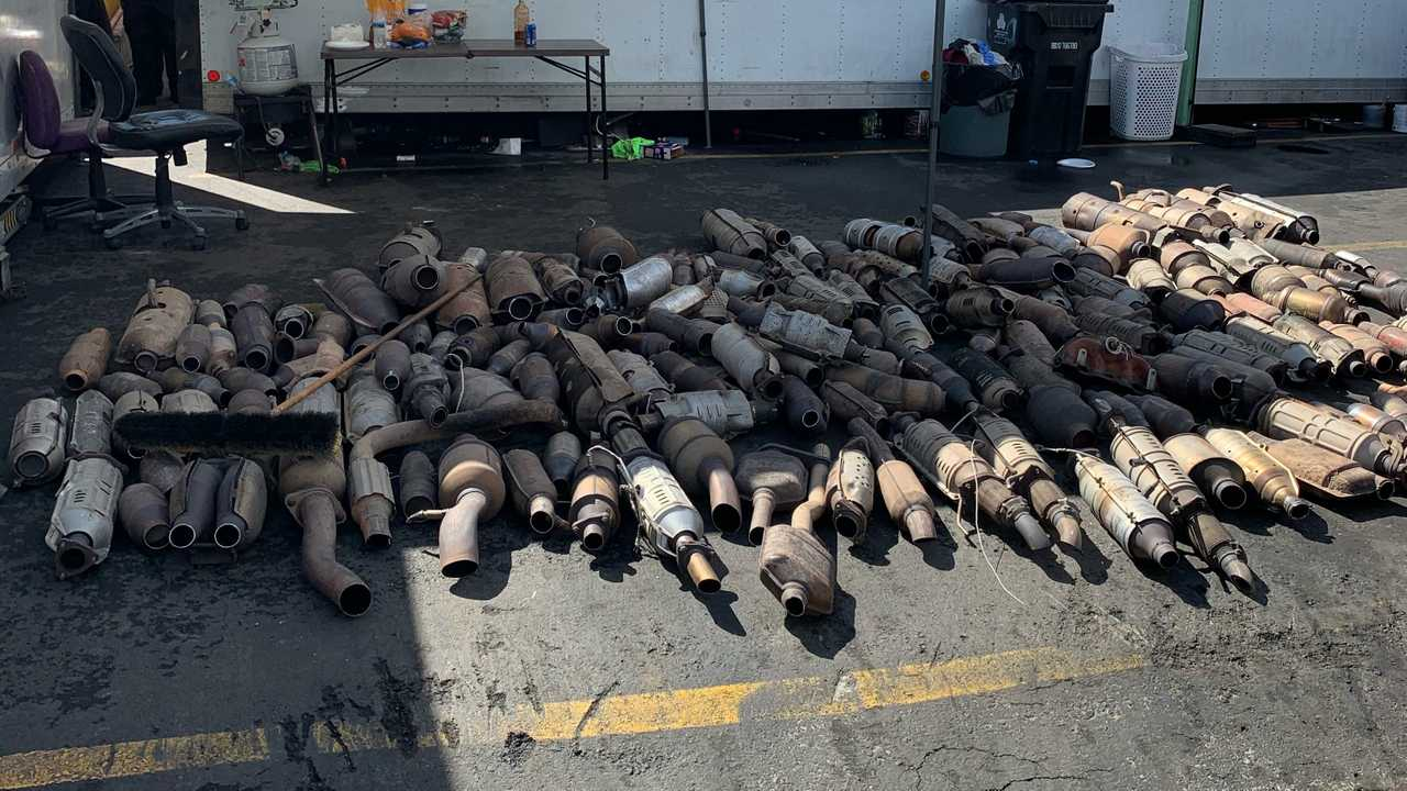 Police bust recovers 250 stolen catalytic converters in Los Angeles.