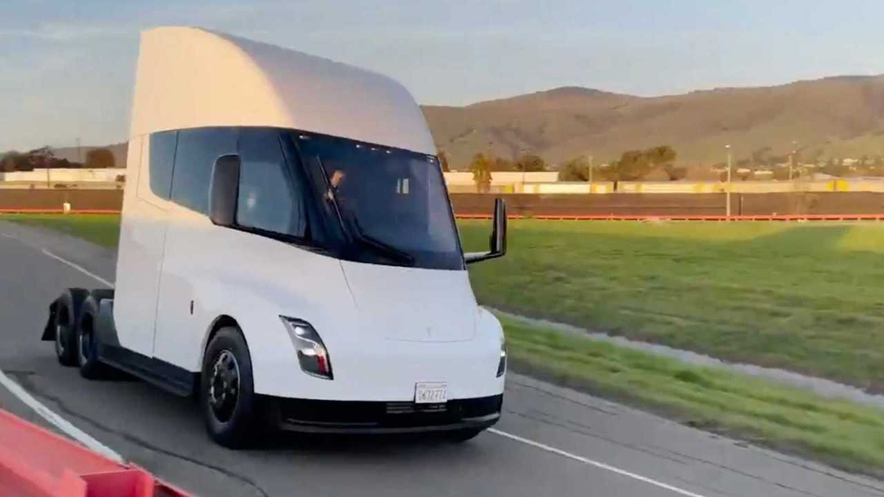 tesla semi caminhao eletrico video