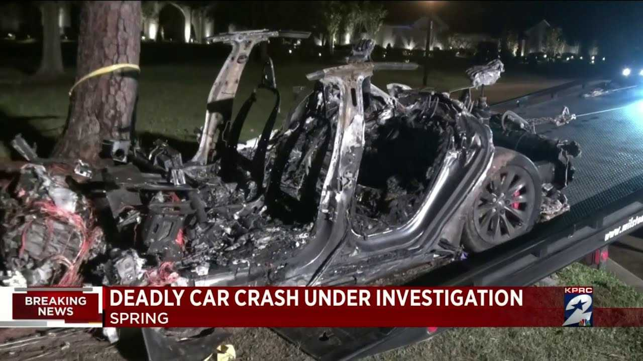 The NTSB Issues A Preliminary Report For Fatal, Texas Tesla Crash