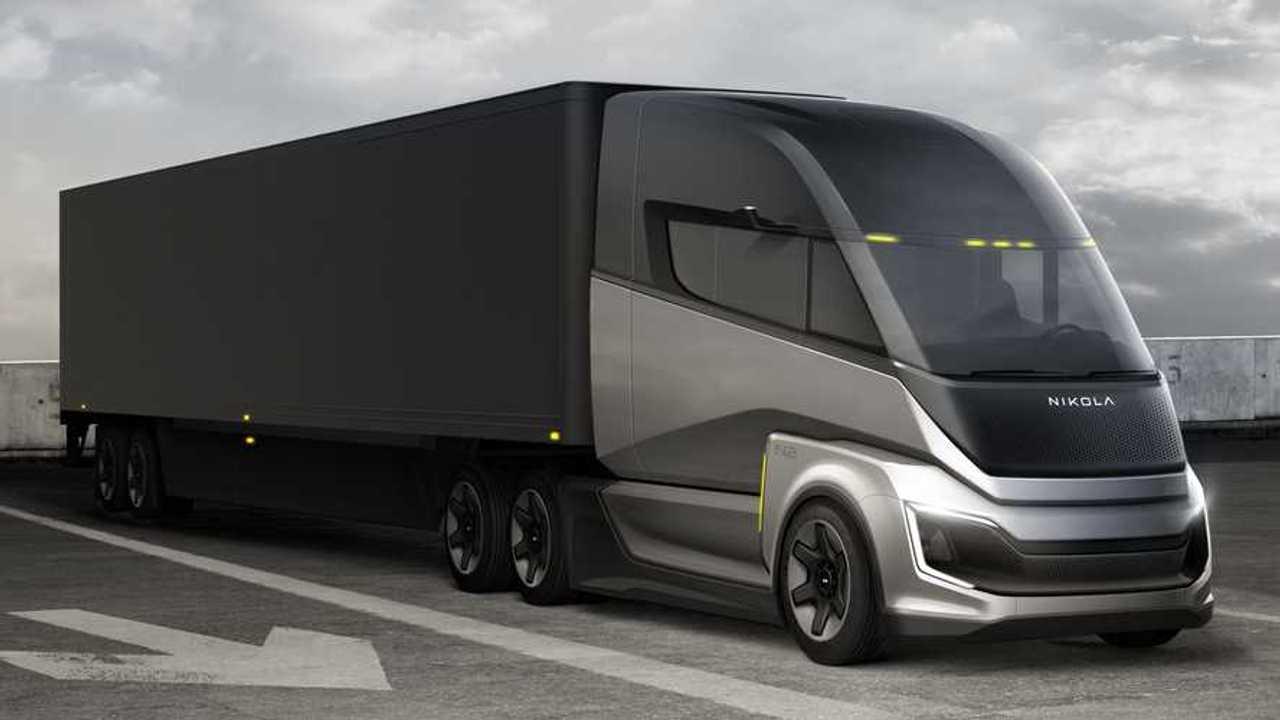Der Nikola Two FCEV soll bis zu 1.450 km mit einer Wasserstoff-Tankfüllung schaffen.