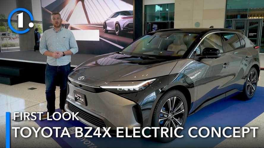 See Walkaround Of The Toyota BZ4X Concept In U.S.