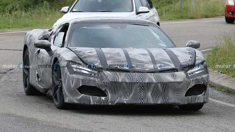 Ferrari V6 hybrid prototypes spy photos