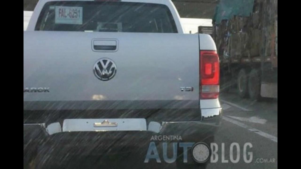 Segredo: Volkswagen Amarok com motor TSI a gasolina já roda em testes na Argentina
