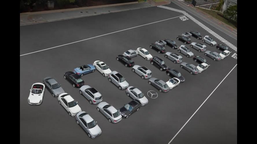 Mercedes-Benz mostra making of da foto comemorativa de 10.000 carros vendidos no Brasil