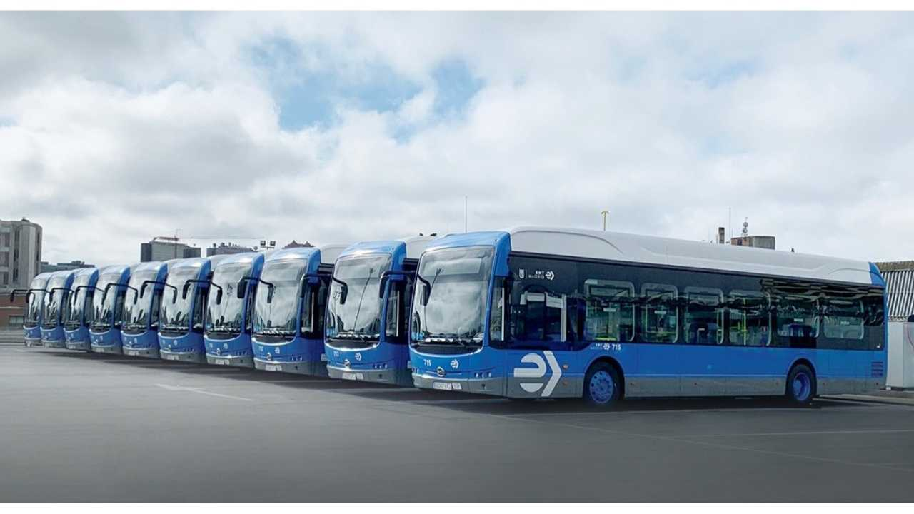 BYD 12m pure electric buses in Spain
