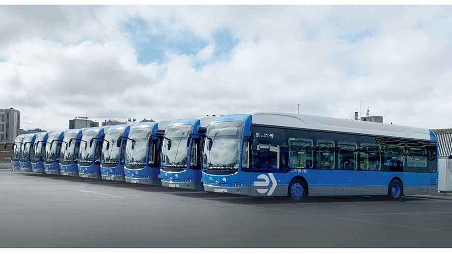 BYD Delivered 15 Electric Buses To Madrid