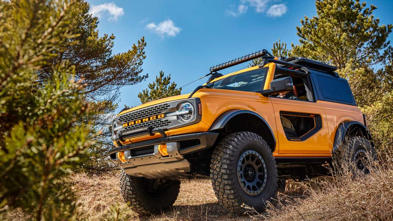 2021 Ford Bronco two-door off-road yellow