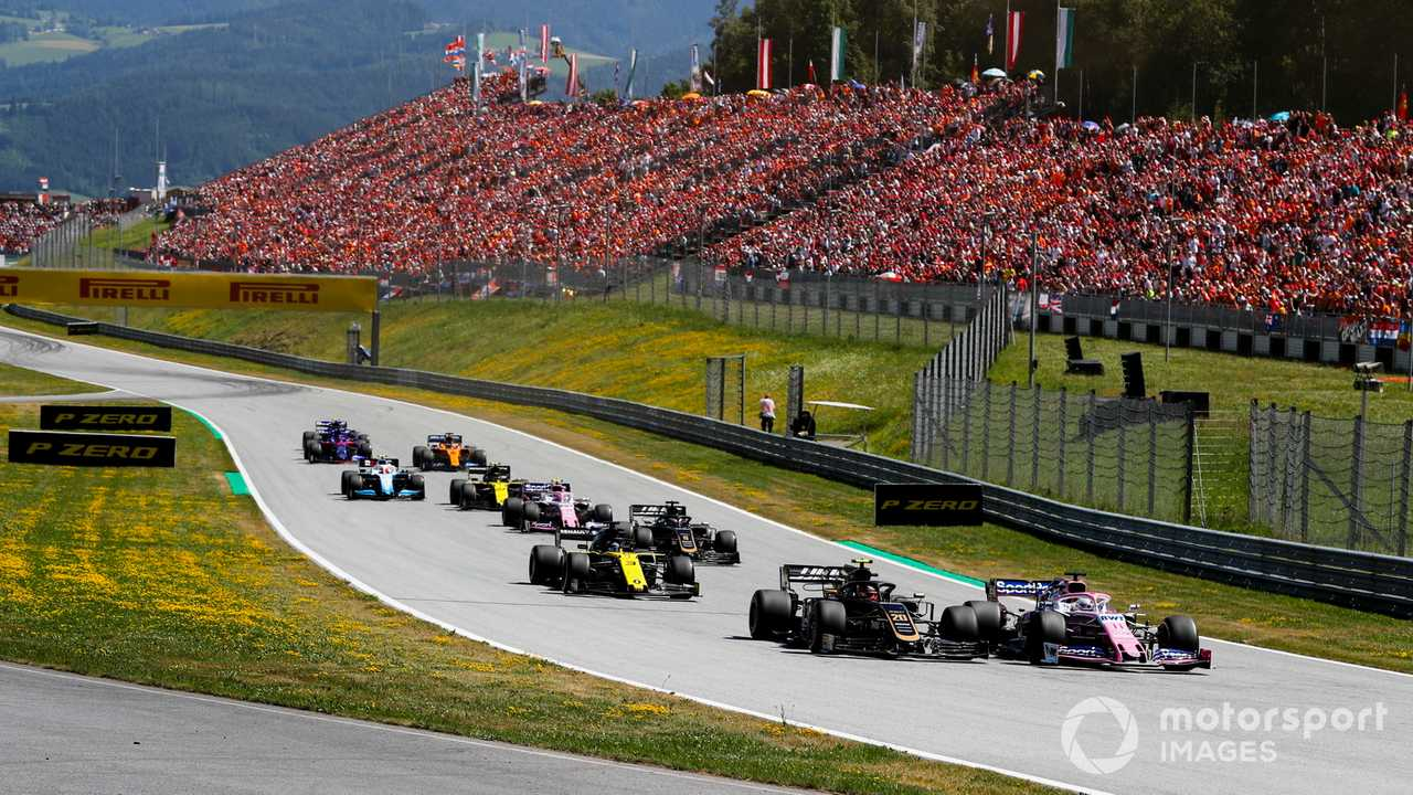 Austrian GP 2019 remainder of race field after start