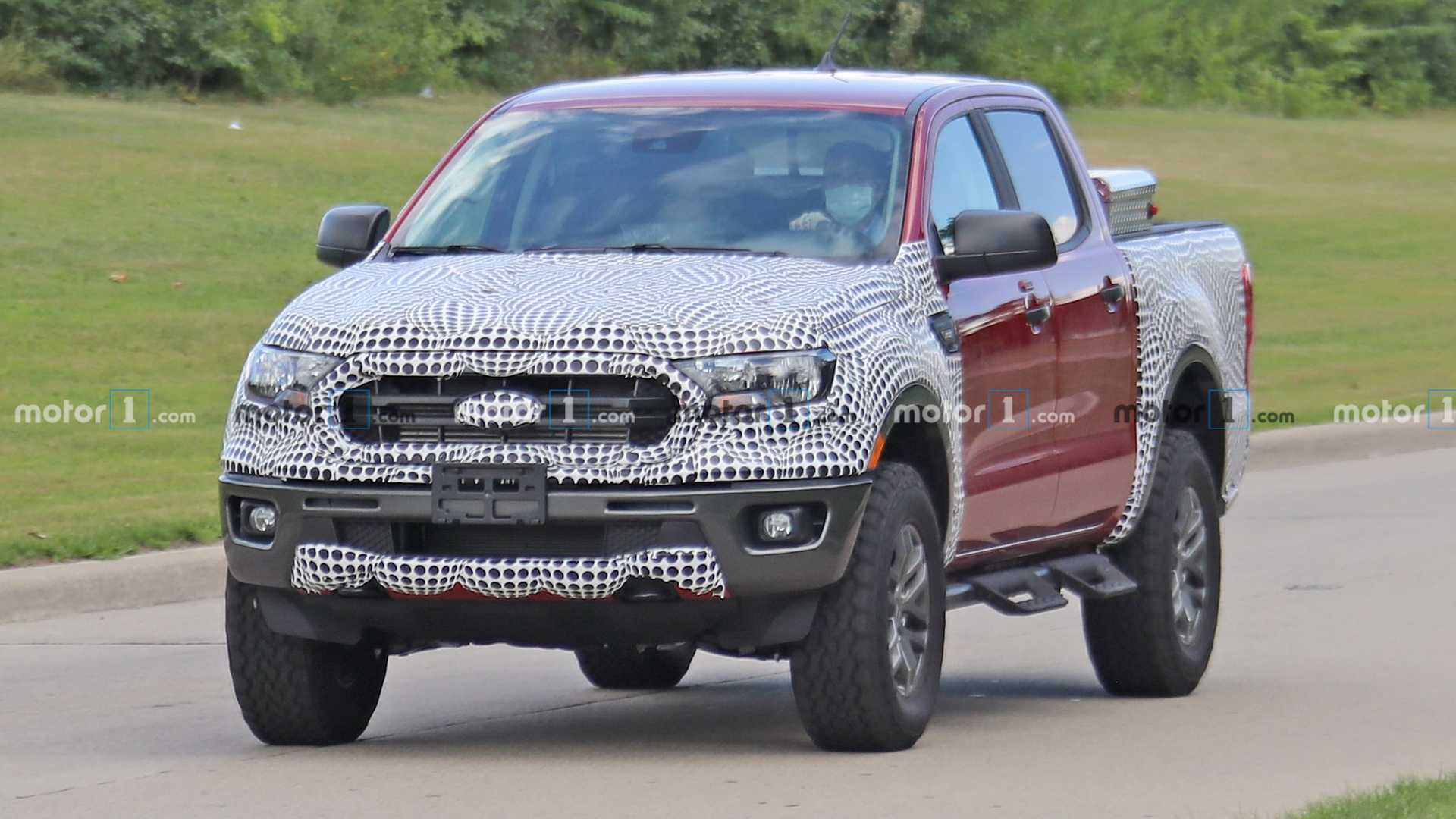 Ford Ranger Tremor Spy Photos Front