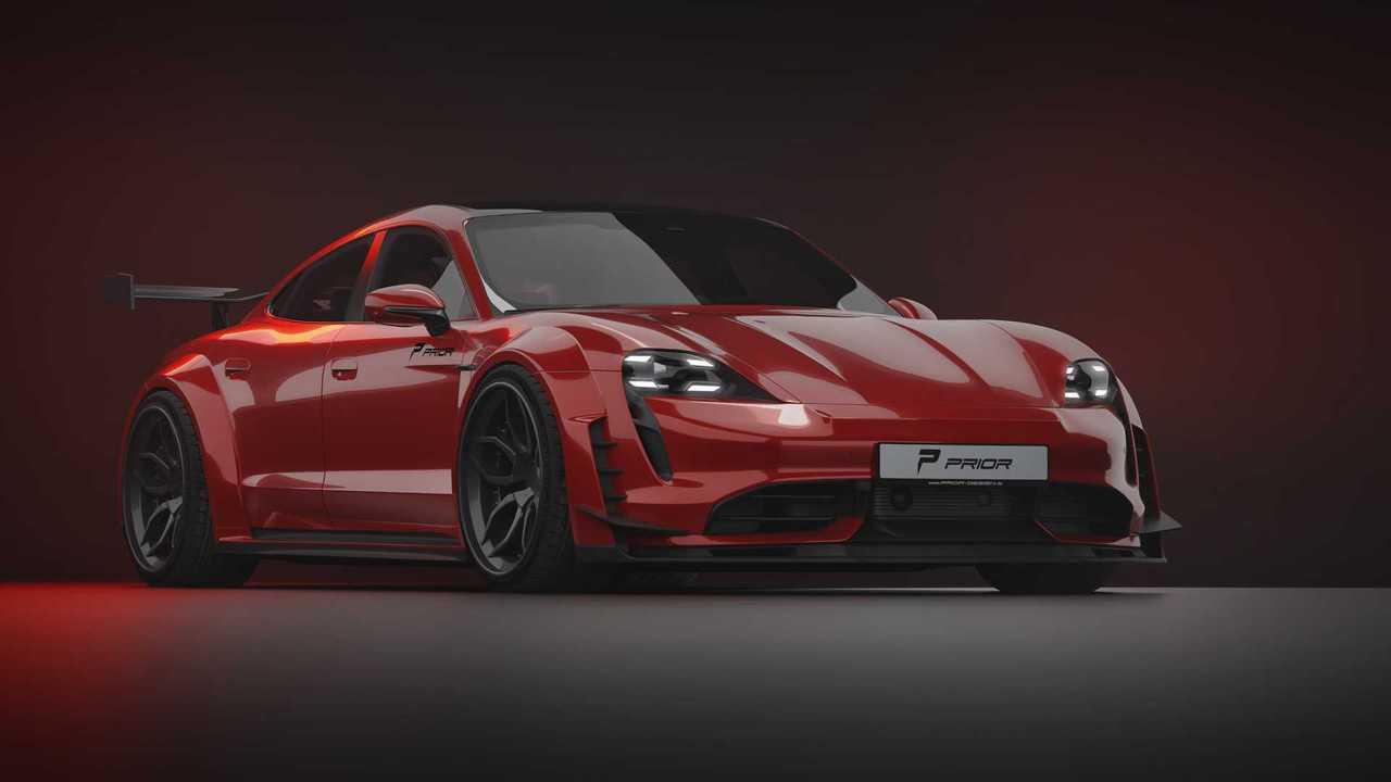 Porsche Taycan Turbo S de Prior Design 3/4 delantero