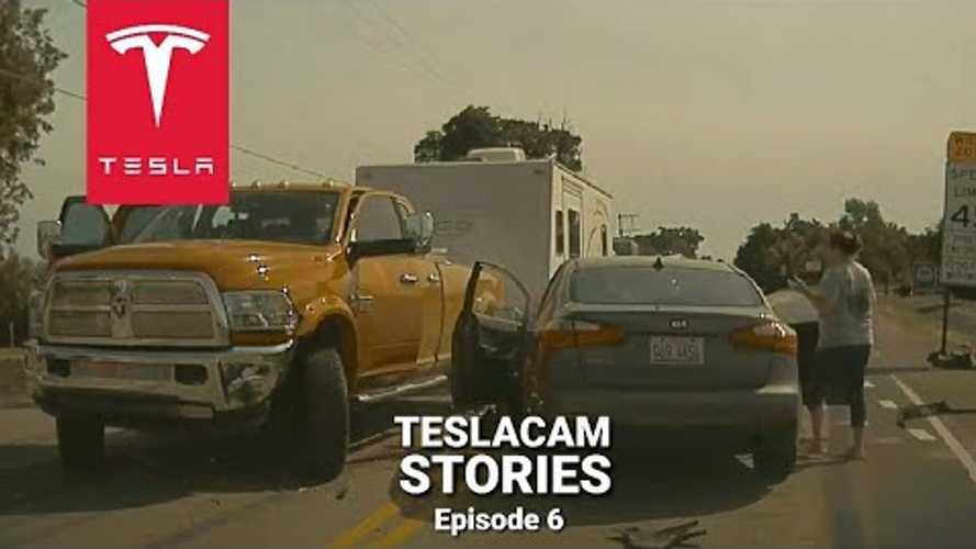Tesla Model 3 TeslaCam Catches SUV Crash With Multiple Rollovers
