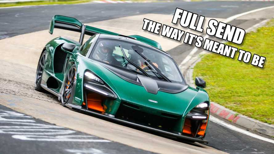 Watch McLaren Senna on the ragged edge around the 'Ring