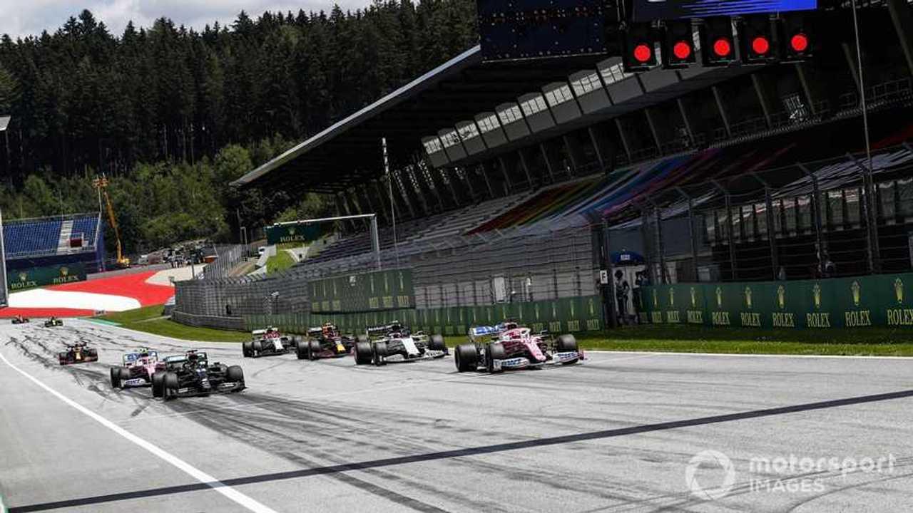 Austrian GP 2020 start race practice