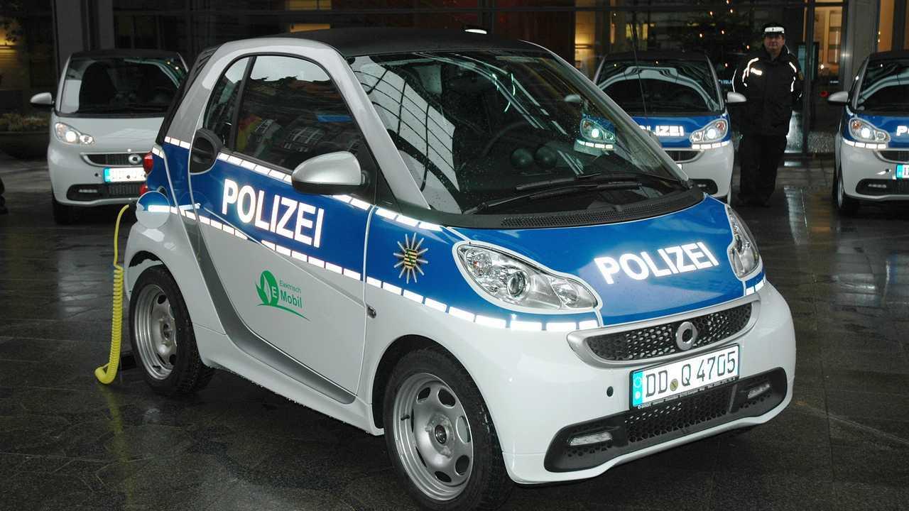 Polizeiautos in Deutschland: Smart Fortwo