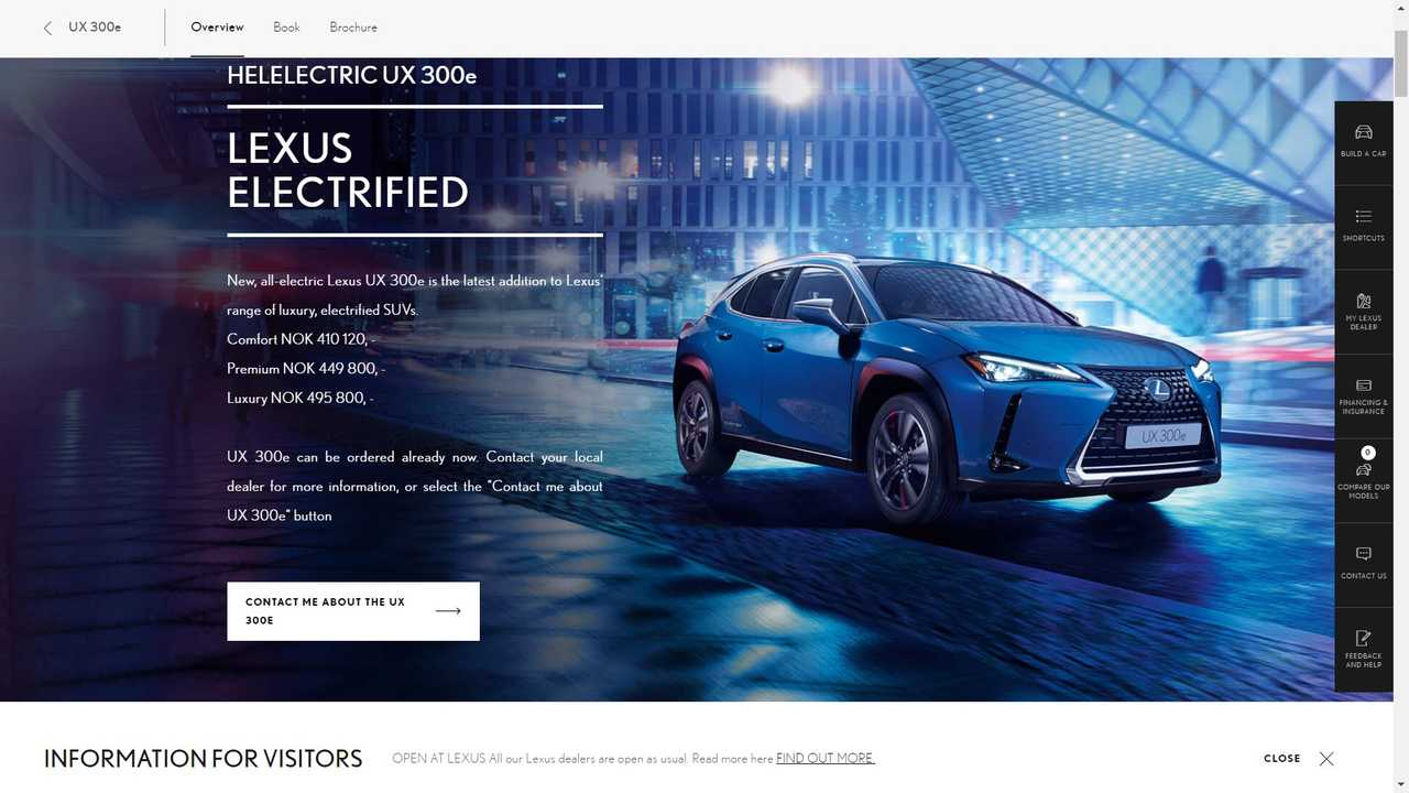 Lexus UX 300e Is Already Up For Reservations In Norway: Check The Prices