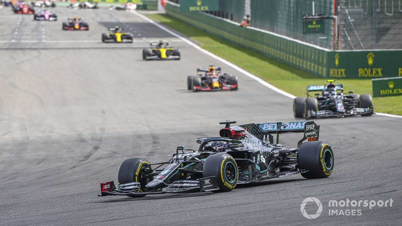 Lewis Hamilton leading Belgian GP 2020