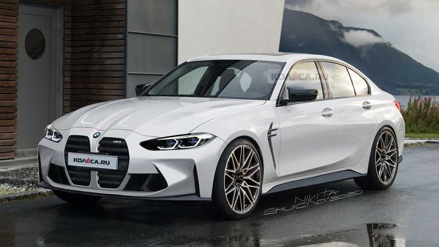 2021 BMW M3 accurately rendered as spy shots together with M4 emerge