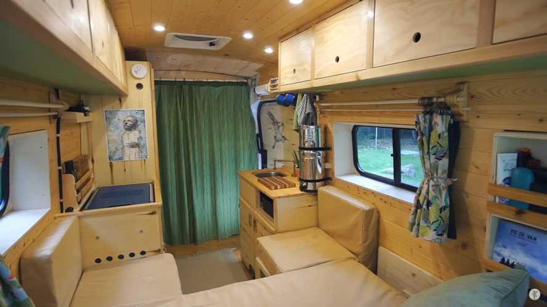 Homemade Camper Van Is Low Tech