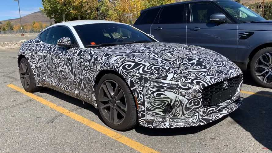 2021 Jaguar F-Type spied up close looking sleek under camo