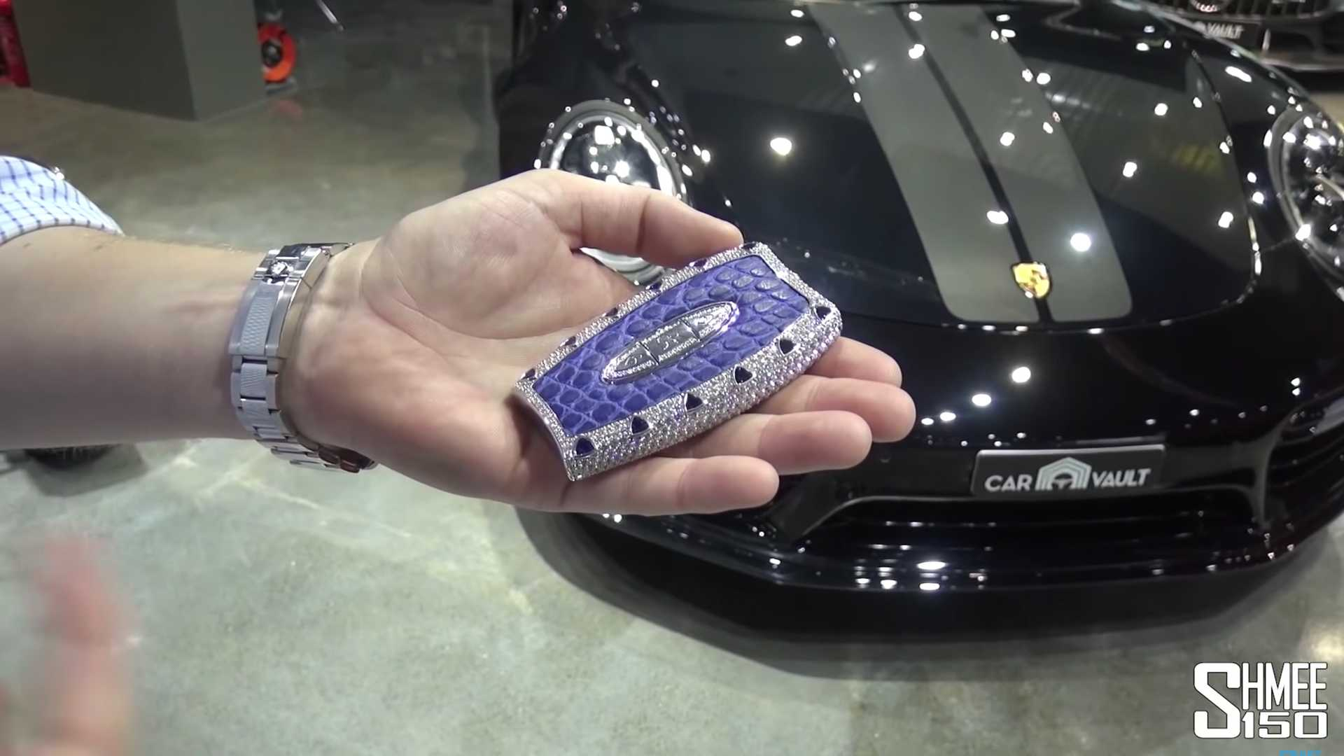 Behold The Glitzy 554000 Custom Key For A Bugatti Chiron