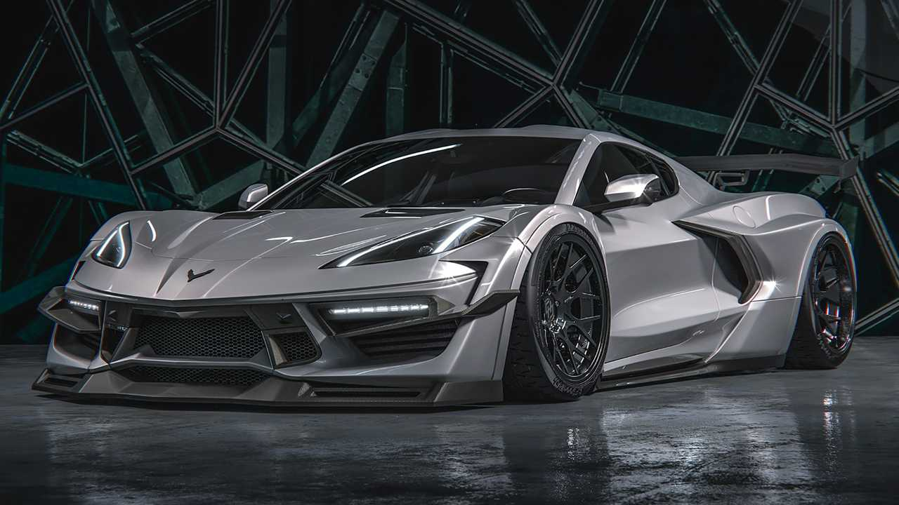 2020 Chevy Corvette Widebody Rendering By HugoSilva Designs