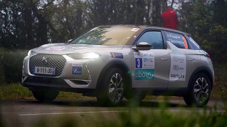 Le DS 3 Crossback e-Tense en tête de l'E-Rallye Monte-Carlo