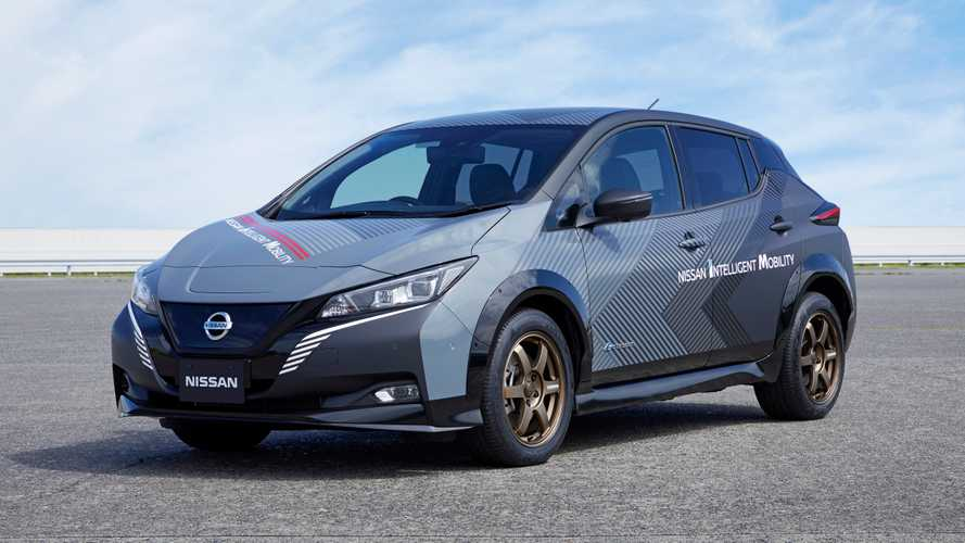 This Nissan Leaf dual-motor prototype has 304 bhp, all-wheel drive