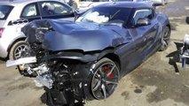 Une Toyota Supra accidentée aux enchères