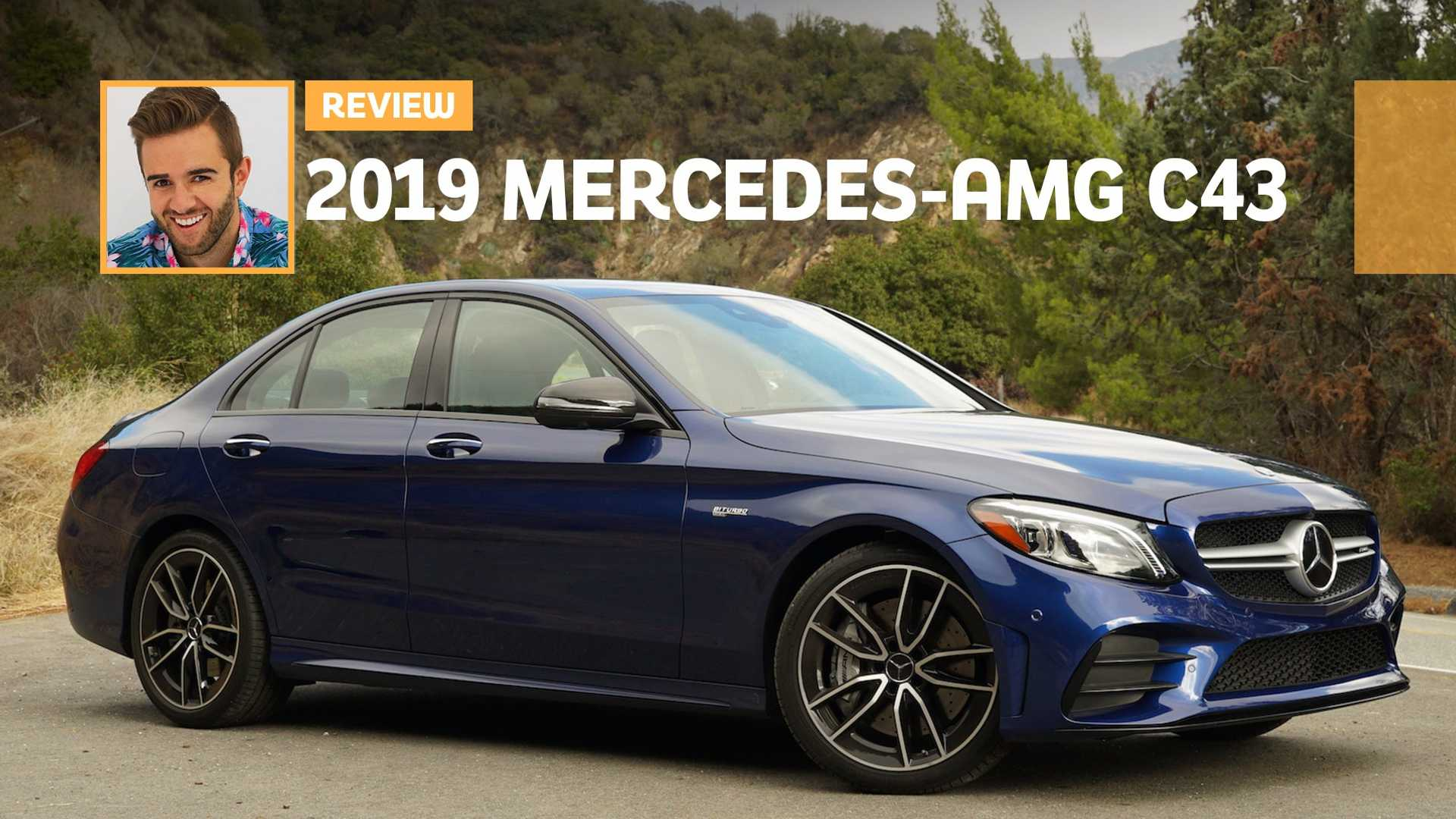 2019 Mercedes Amg C43 Review Blue Bombshell