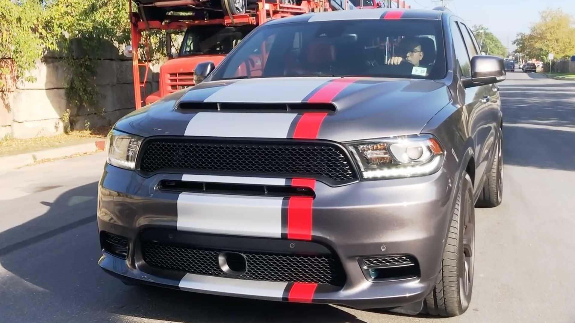 Dodge Durango Srt With Hellcat Engine And Demon Hood Looks Fierce
