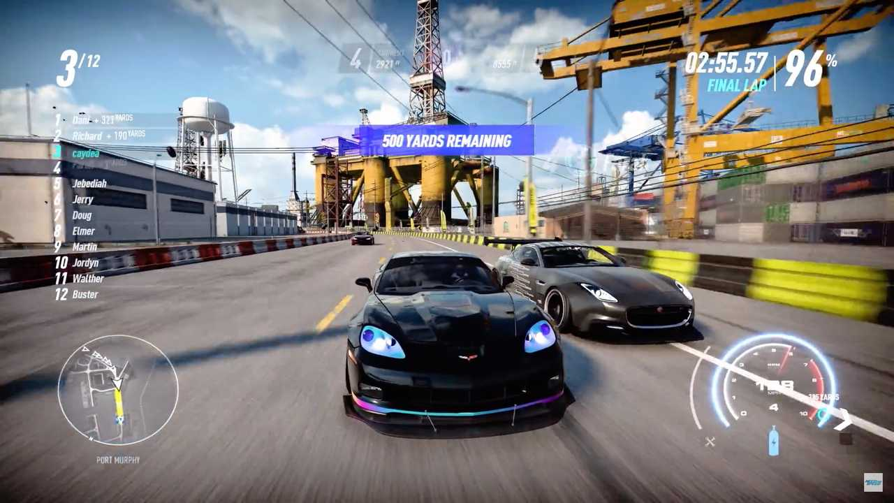 Скриншоты геймплейного трейлера Need For Speed Heat