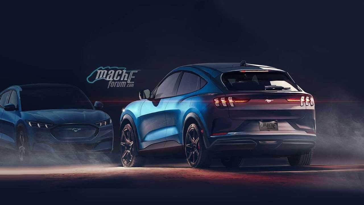 A Ford Mustang ihlette EV renderelés