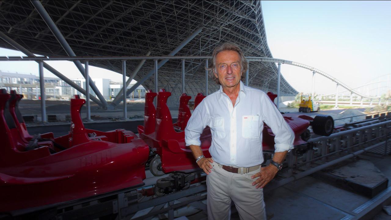 Luca di Montezemolo al Ferrari World Abu Dhabi