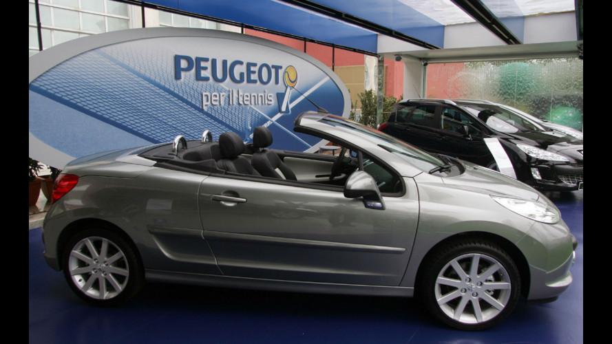 Peugeot 207 CC Roland Garros agli Intenazionali di tennis