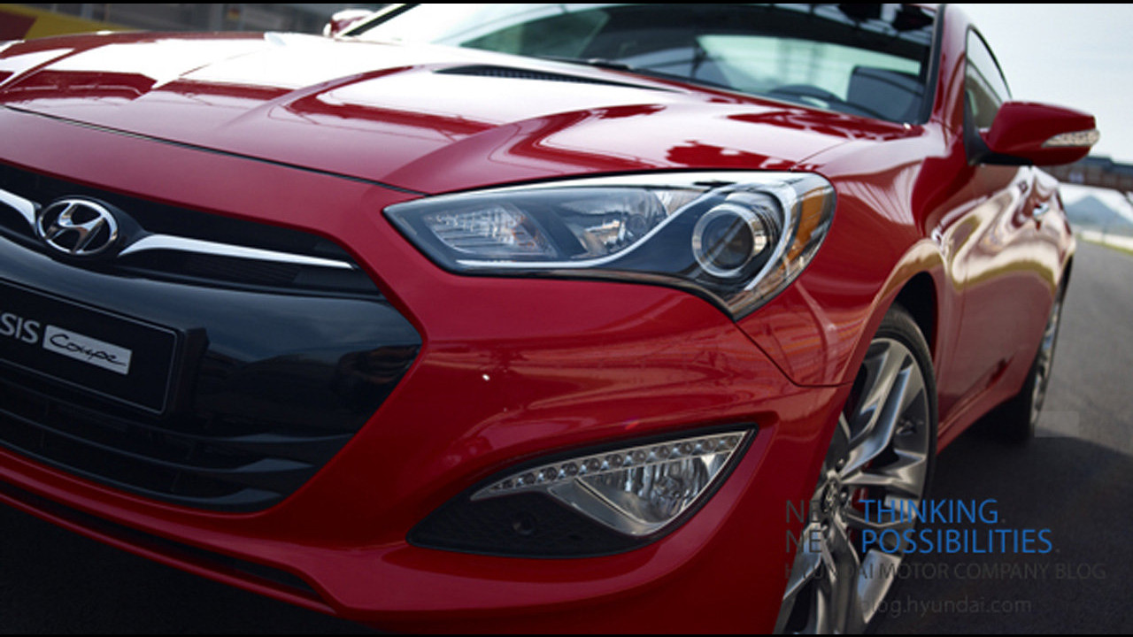 Hyundai Genesis Coupé restyling. Teaser