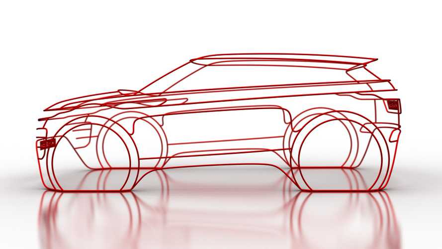 2020 Range Rover Evoque teased as wire sculpture