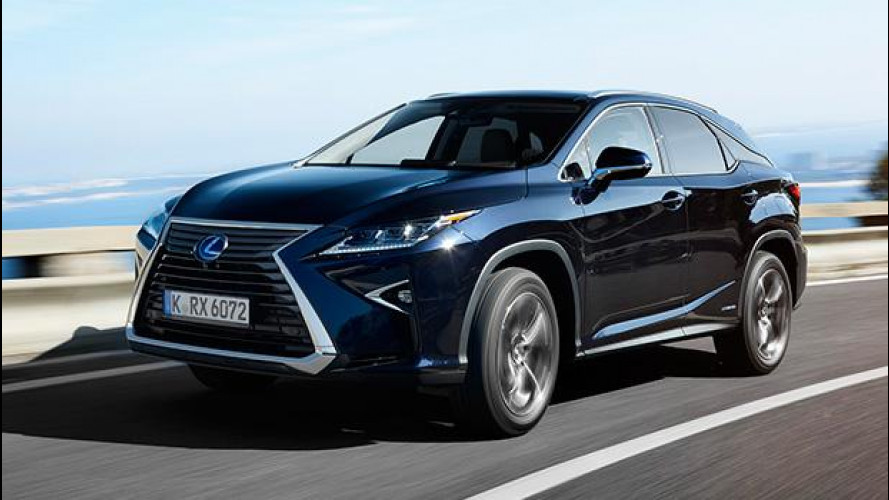 Lexus RX Hybrid, virata sportiva