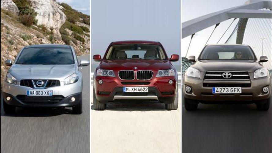 Usato auto, i 10 SUV più venduti in Italia