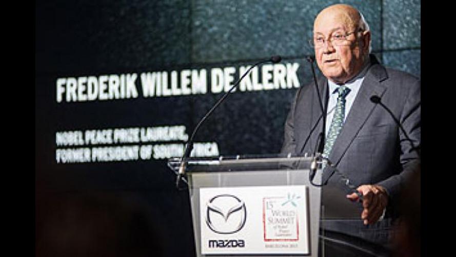 Mazda, anche la MX-5 al Summit Mondiale dei Nobel per la Pace