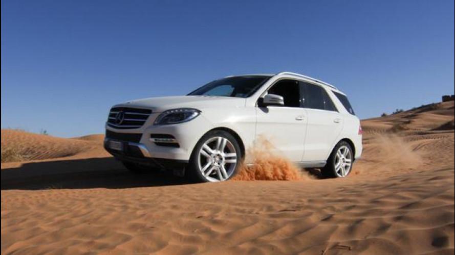 Mercedes SUV e fuoristrada, l'emozione di guidare nel deserto [VIDEO]