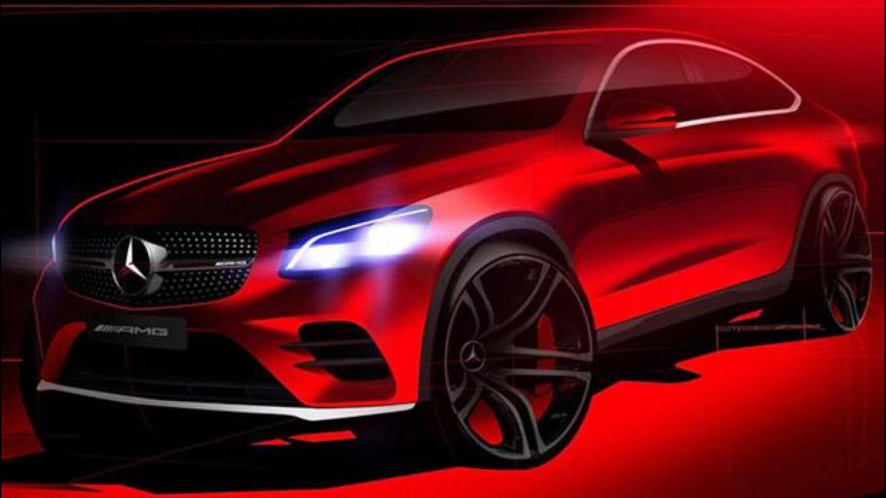 [Copertina] - Mercedes GLC Coupé, un'ultima immagine prima del debutto