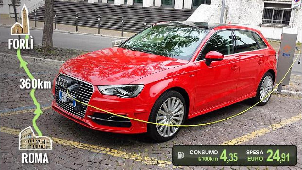 [Copertina] - Audi A3 Sportback e-tron, la prova dei consumi reali
