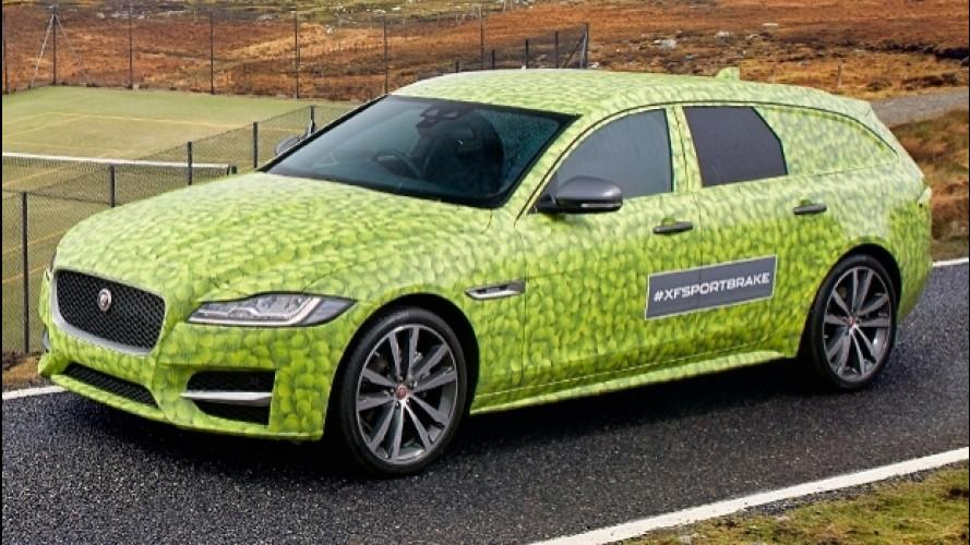 Jaguar XF Sportbrake, prime immagini della nuova serie