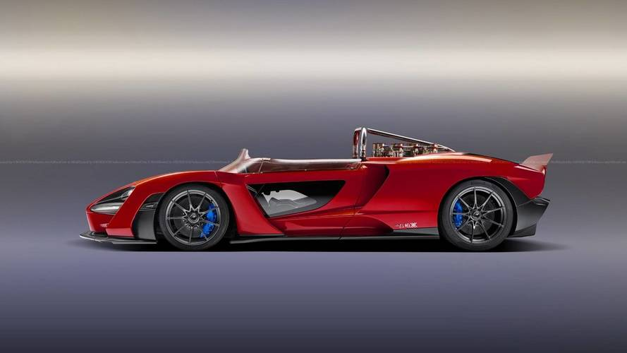 McLaren Senna Speedster, LMP Race Car Digitally Imagined