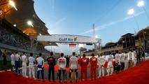 Durante el himno de Bahréin