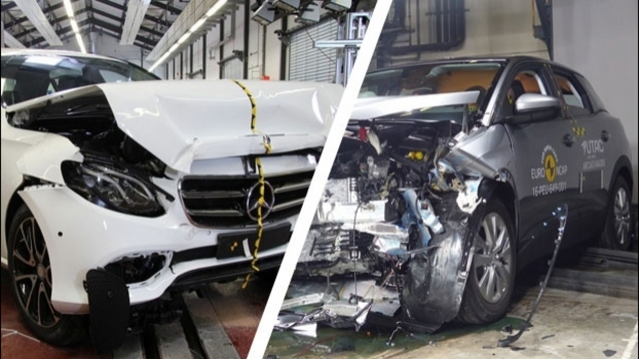 [Copertina] - Euro NCAP: Mercedes Classe E e Peugeot 3008 a pieni voti